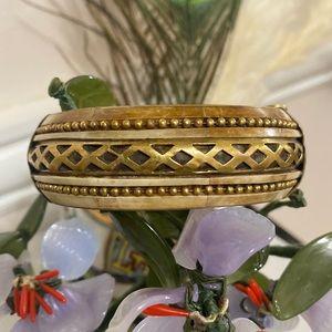 Antique solid brass engraved Bracelet